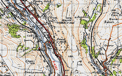 Old map of Bargod Taf in 1947