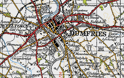 Old map of Larchfield in 1947