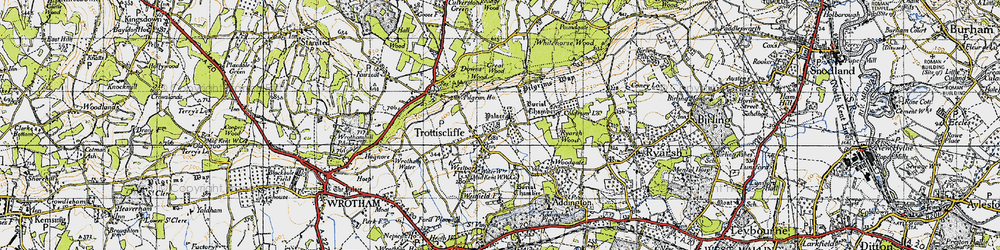 Old map of Whitehorse Wood in 1946