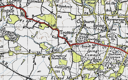 Old map of Trotton in 1945