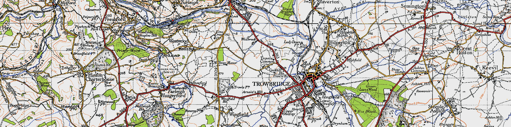 Old map of Wingfield Ho in 1946