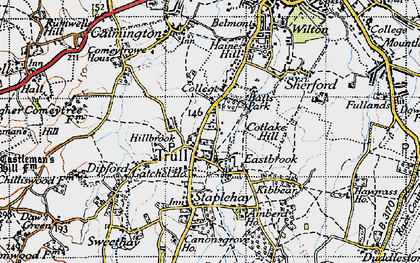 Old map of Trull in 1946