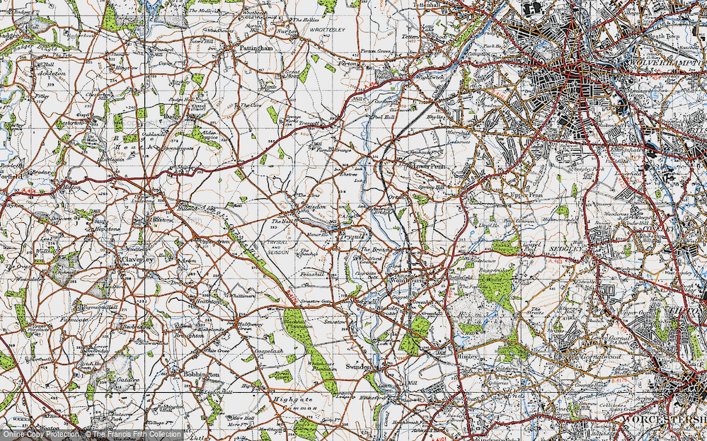 Old Map of Historic Map covering Awbridge Br in 1946