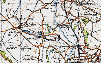 Old map of Awbridge Br in 1946