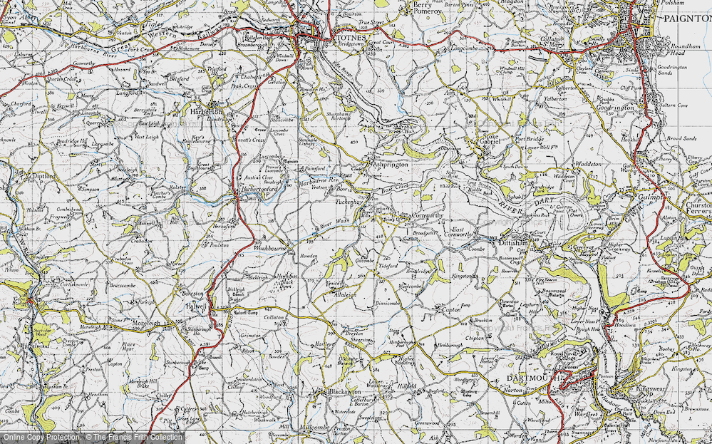 Old Map of Tuckenhay, 1946 in 1946
