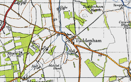 Old map of Woodsway Stud in 1946