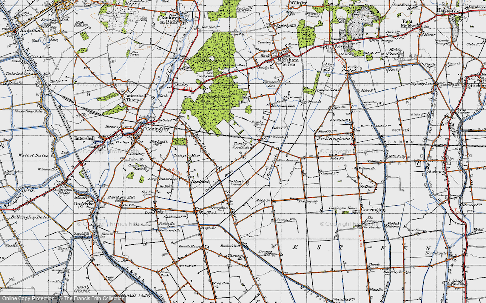 Old Map of Tumby Woodside, 1946 in 1946