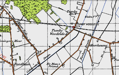 Old map of Tumby Woodside in 1946
