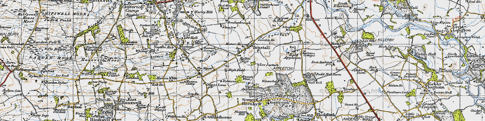 Old map of Wintylow in 1947