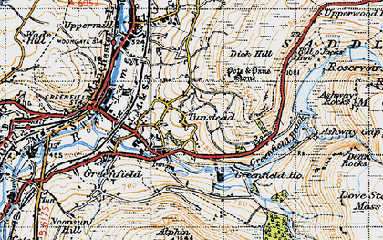 Old map of Alderman's Hill in 1947