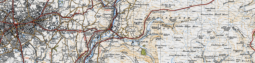 Old map of Alphin in 1947