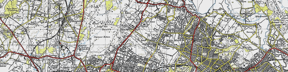 Old map of Turbary Common in 1940