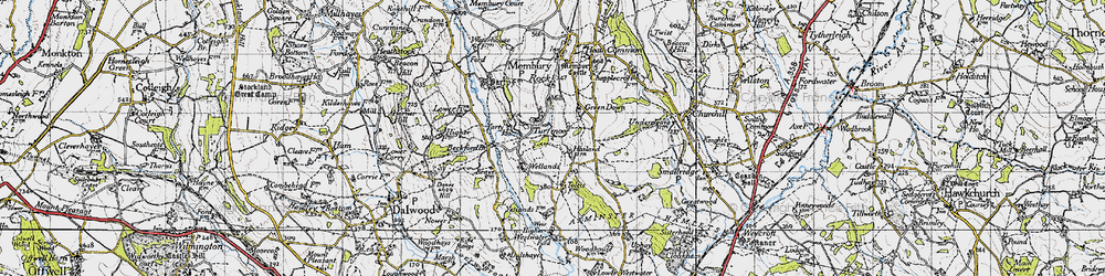 Old map of Yarty Ho in 1946