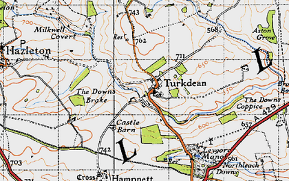 Old map of Leygore Manor in 1946