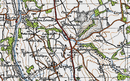 Old map of Astley in 1947