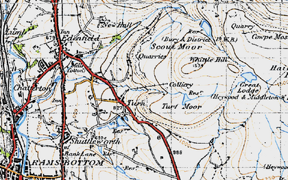 Old map of Whittle Hill in 1947