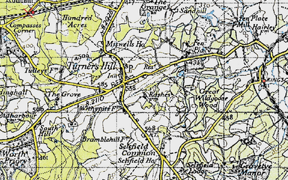 Old map of Turners Hill in 1946