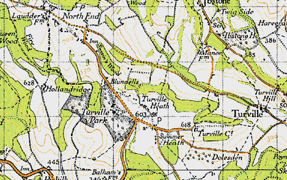 Old map of Turville Heath in 1947