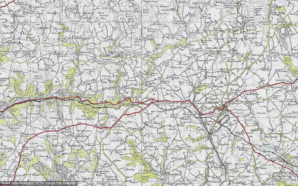 Old Map of Historic Map covering Ashford Br in 1946