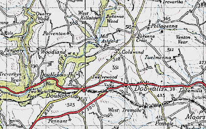 Old map of Ashford Br in 1946