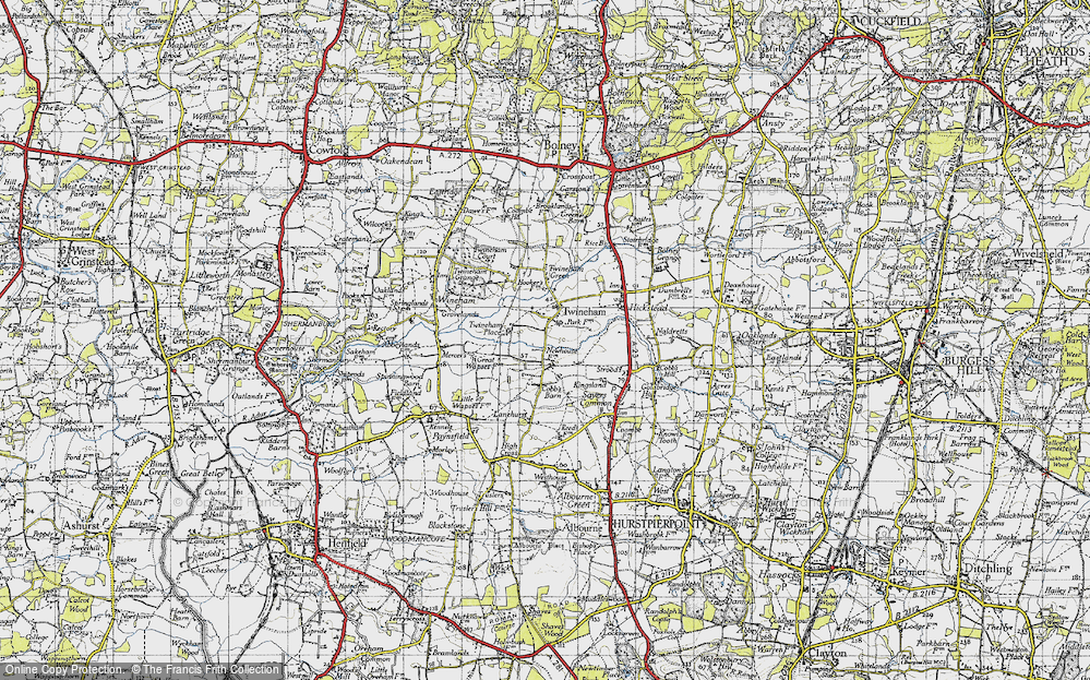 Old Map of Historic Map covering Lanehurst in 1940