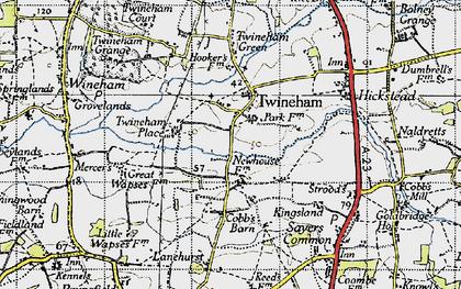 Old map of Lanehurst in 1940