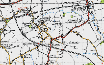 Old map of Twiss Green in 1947