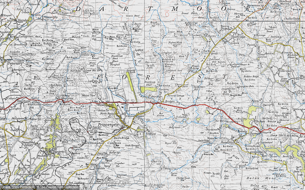 Old Maps of Crockern Tor - Francis Frith
