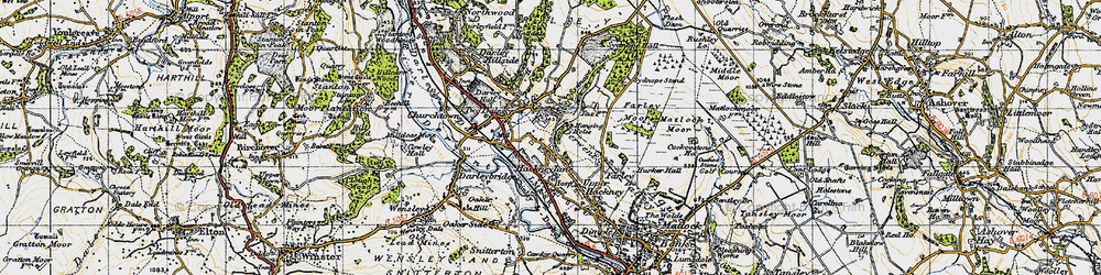 Old map of Two Dales in 1947