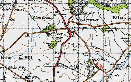 Old map of Twycross in 1946
