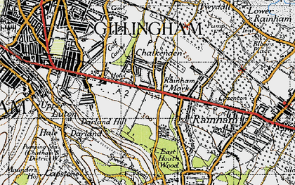 Old map of Ambley Wood in 1946