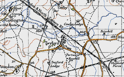 Old map of Twyford in 1946