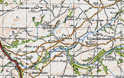 Old map of Tir-Howel in 1947
