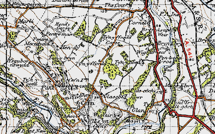 Old map of Wigfair in 1947