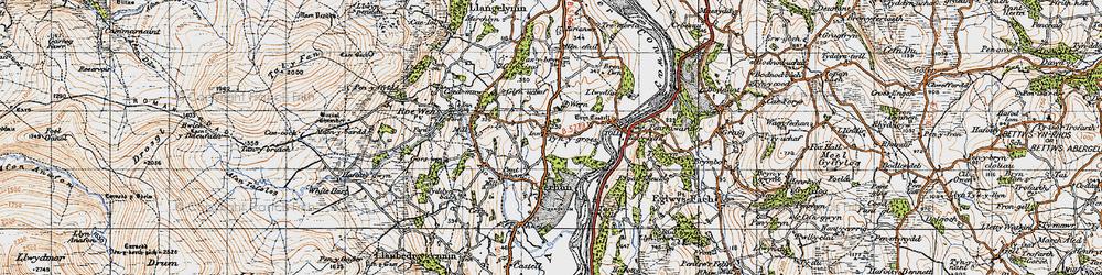 Old map of Ty'n-y-groes in 1947