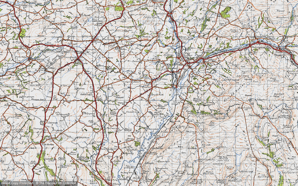 Old Map of Tycroes, 1947 in 1947