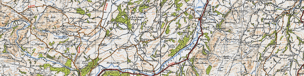 Old map of Wigdawr in 1947