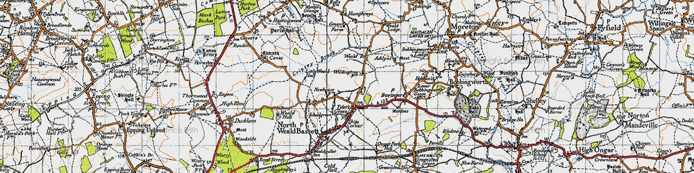 Old map of Wyldingtree in 1946