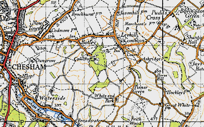 Old map of Tyler's Hill in 1946