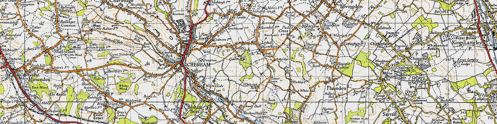 Old map of White End Park in 1946