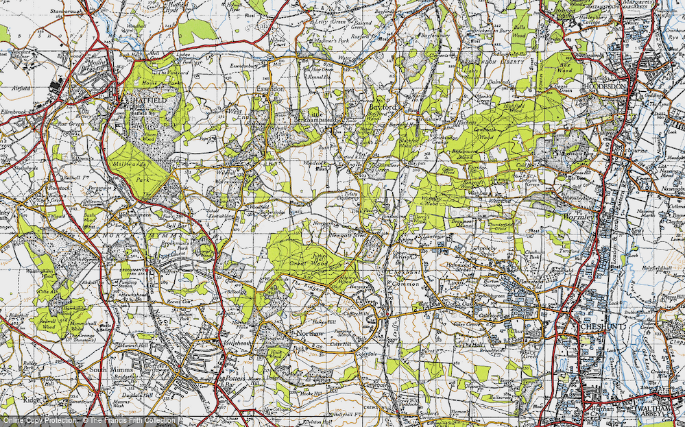 Old Map of Tylers Causeway, 1946 in 1946