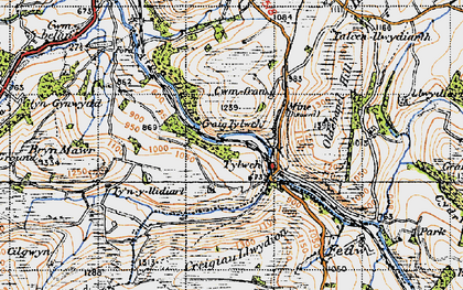 Old map of Banhadlog Hall in 1947