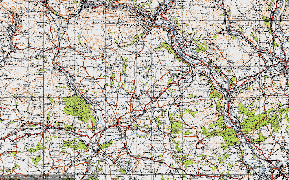 Old Map of Tynant, 1947 in 1947