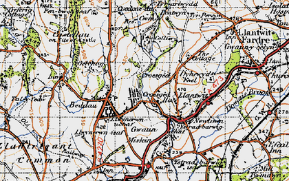 Old map of Tynant in 1947