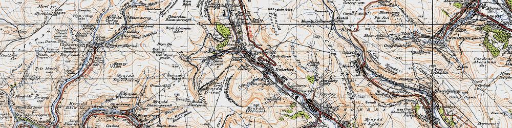 Old map of Tynewydd in 1947