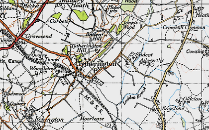 Old map of Baden Hill in 1946