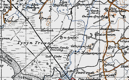 Old map of Afon Crigyll in 1947