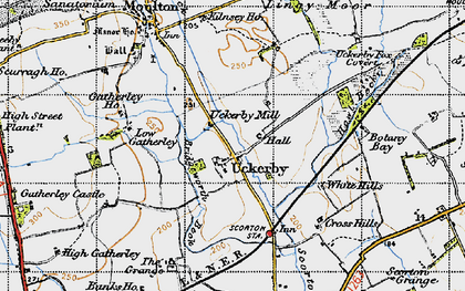 Old map of Lingy Moor in 1947