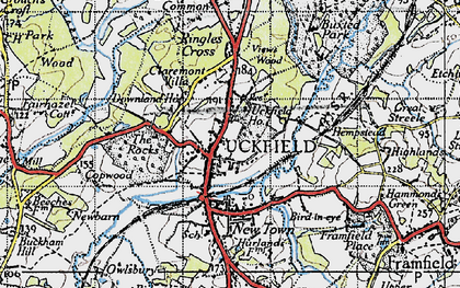 Old map of Uckfield in 1940