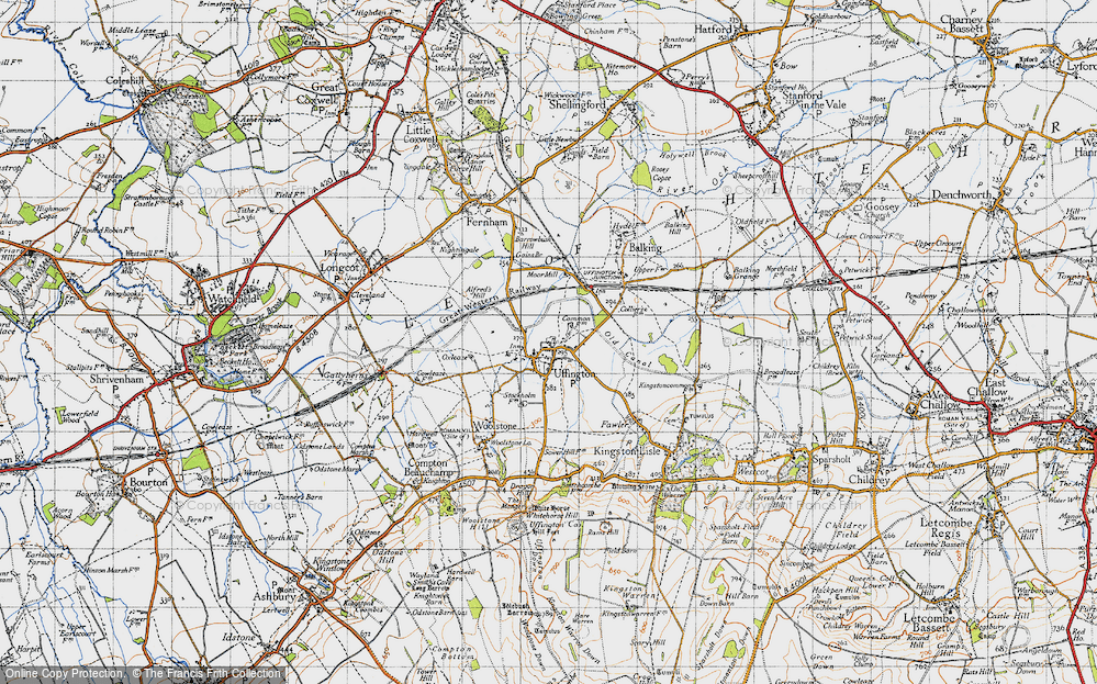 Old Map of Uffington, 1947 in 1947